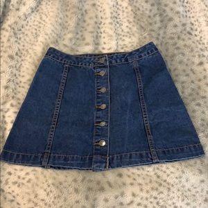 Topshop Denim Mini Skirt